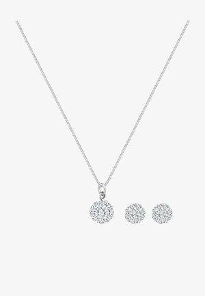 GLASS CRYSTAL - Earrings - white