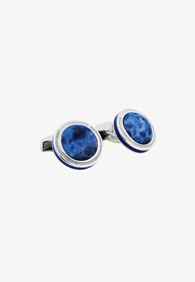SIGNATURE ROUND  - Manchetknoop - blue