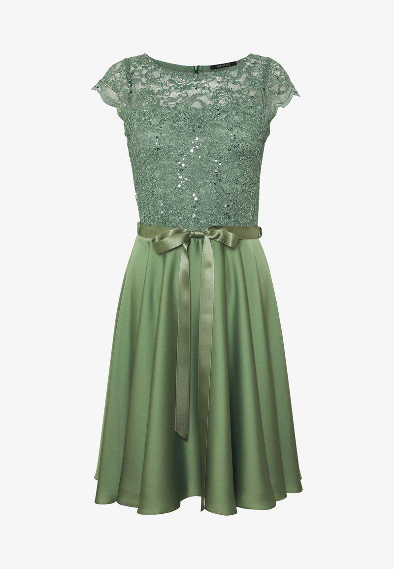 Swing Cocktailkleid Festliches Kleid Khaki Oliv Zalando De