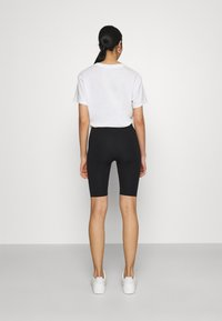 Monki - EDDA 2 PACK - Shorts - black dark/beige - 2