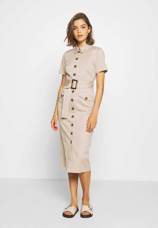 YASTALISA MIDI DRESS - Shirt dress - light taupe