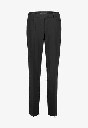 MIT BÜGELFALTE - Trousers - black