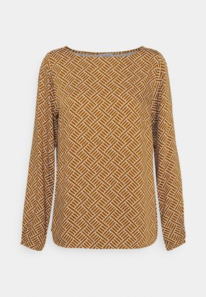 GRAPHIC BLOUSE - Long sleeved top - chai