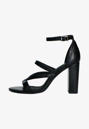 High heeled sandals - schwarz