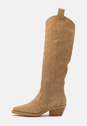 LET'S GET LOST - Cowboy/Biker boots - tan