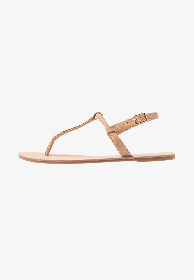 ONLMARGIT SPLIT TOE  - T-bar sandals - nude