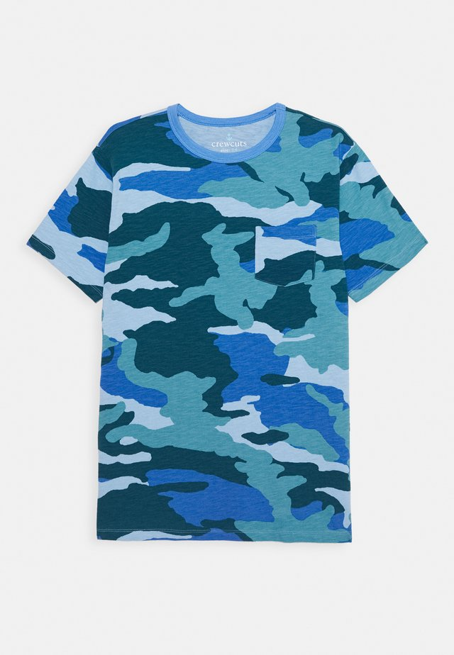 TEE - T-Shirt print - camo blue aqua