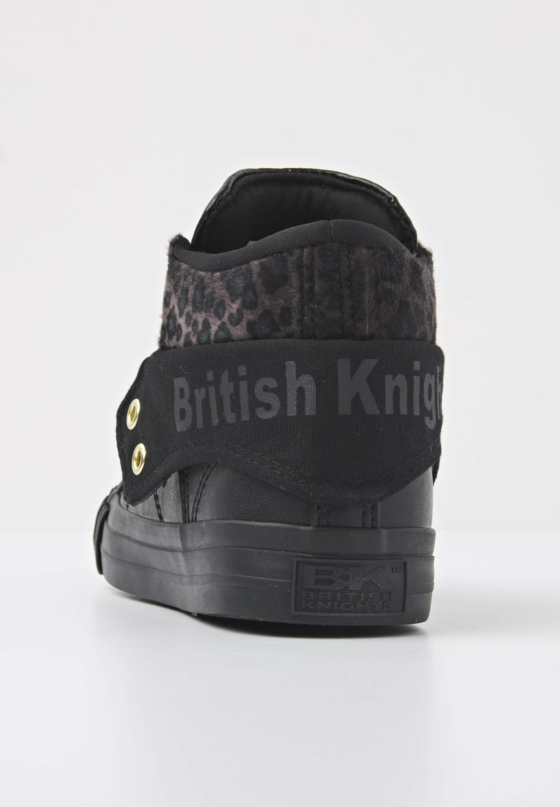 British Knights SNEAKER ROCO Sneaker high black/dk grey leopard/gold/bla/schwarz meliert