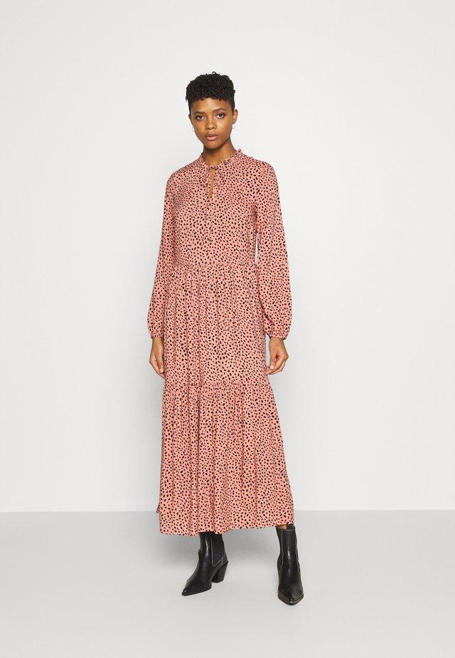 Długa sukienka - pink/black