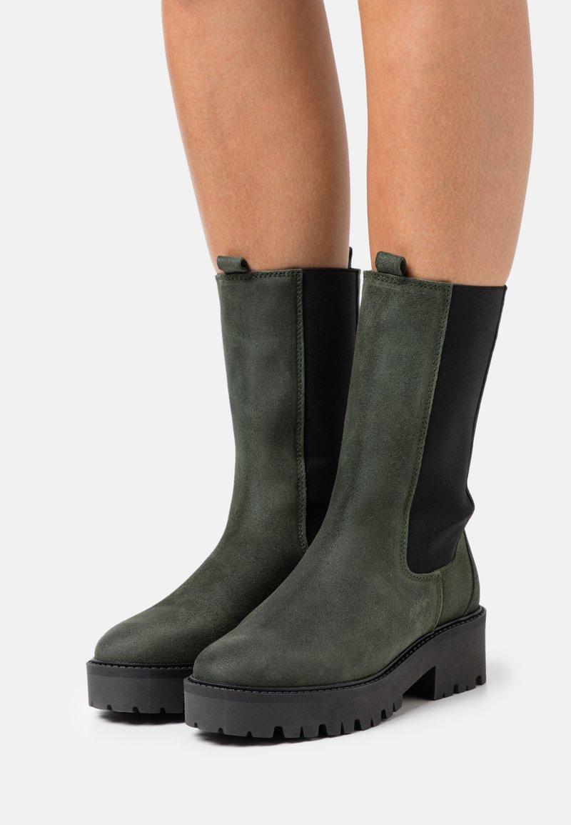 Mexx - GINA - Platform boots - olive