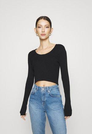 SANNA - T-shirt à manches longues - black