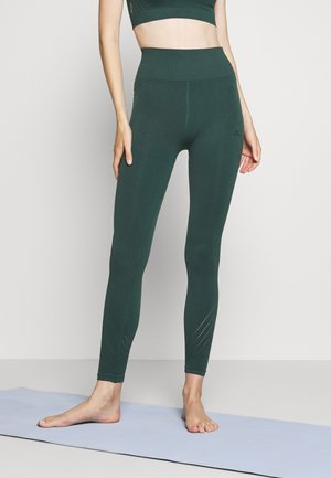 ONPJAVO CIRCULAR TIGHTS - Leggings - darkest spruce