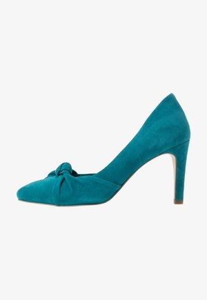 COURT X MISS GERMANY KOLLEKTION - Zapatos altos - turquoise