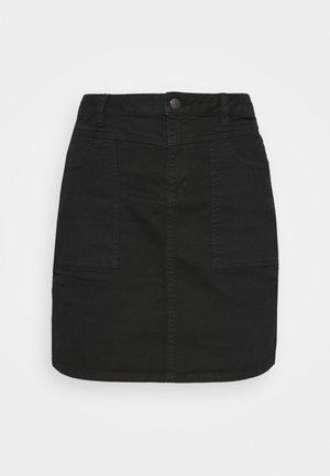 ICON SKIRT - Denim skirt - black