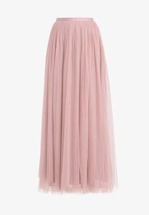 DOTTED MAXI SKIRT - Jupe plissée - iris pink