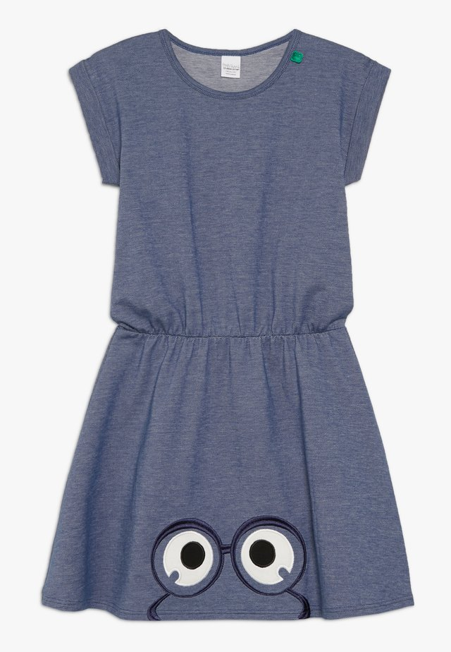 PEEP DRESS - Jersey dress - denim