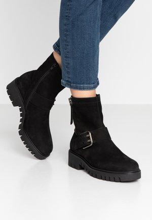WIDE FIT - Platform ankle boots - schwarz