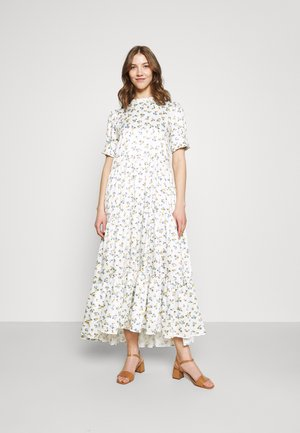 WILD FLOWER TIERED DRESS - Maxi-jurk - ivory