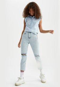 DeFacto - Button-down blouse - blue - 1