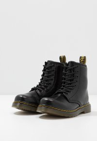 Dr. Martens - 1460 J  Crinkle Metallic - Lace-up ankle boots - black metallic - 3