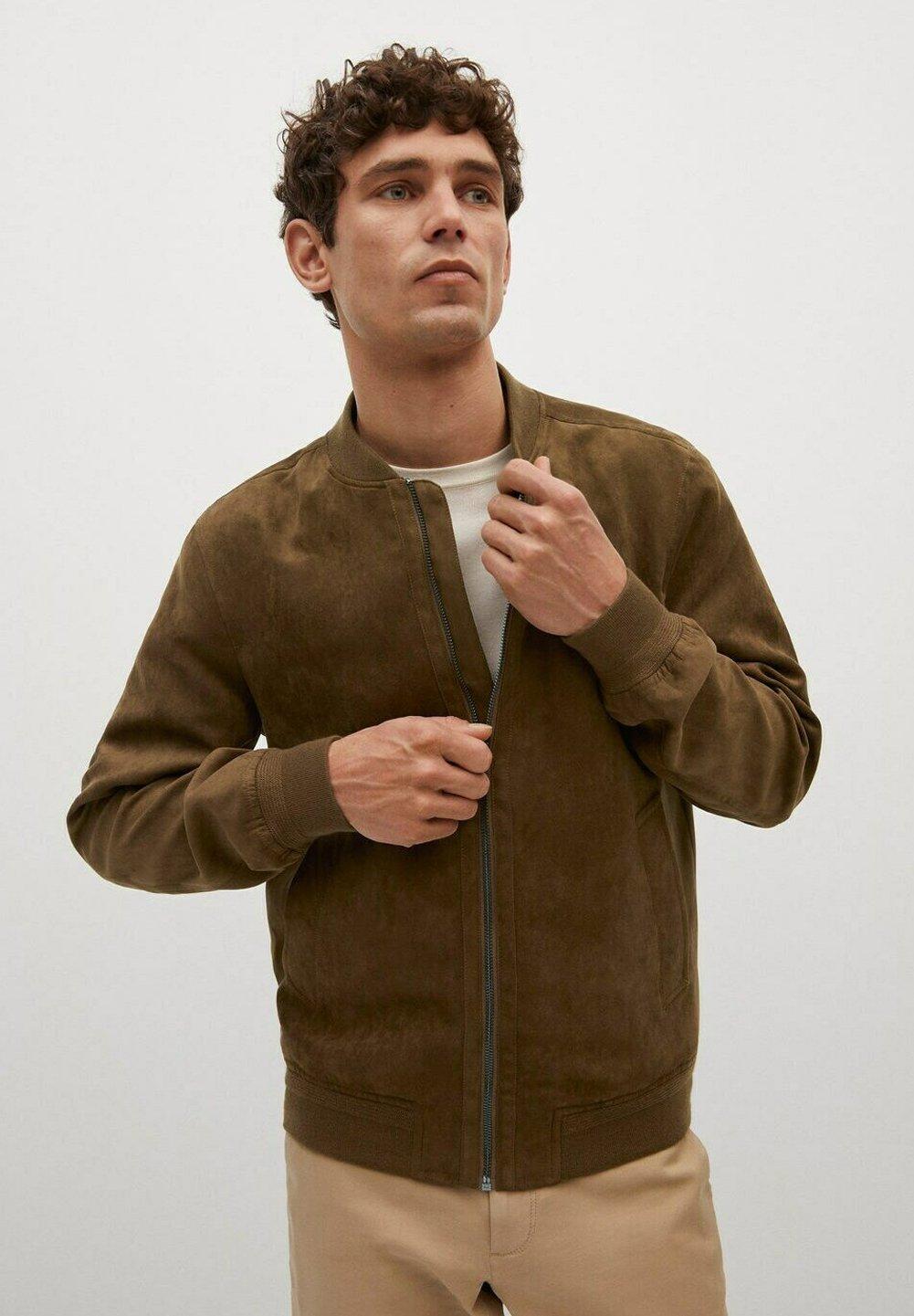 Men MIT WILDLEDER-EFFEKT - Faux leather jacket