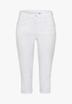 CAPRI - Denim shorts - white