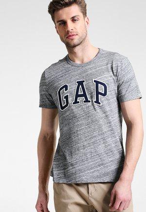ARCH TEE - Print T-shirt - space dye grey marl