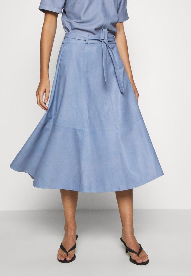 A SKIRT BELT - Spódnica trapezowa - shady blue