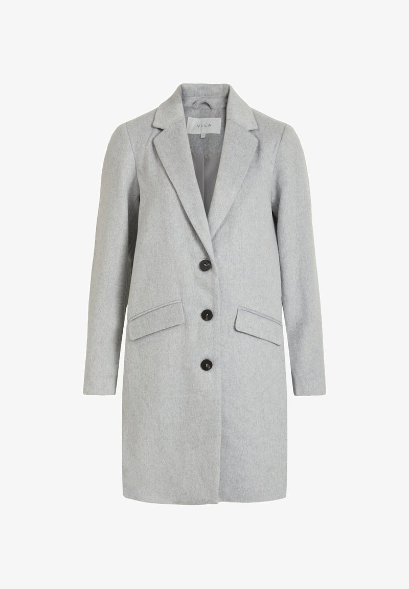 Vila - VILEOVITA COAT - Classic coat - light grey melange