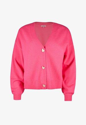 HEART BUTTON  - Cardigan - pink