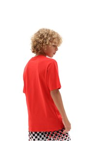 Vans - CLASSIC BOYS - T-shirt con stampa - high risk red/white - 1