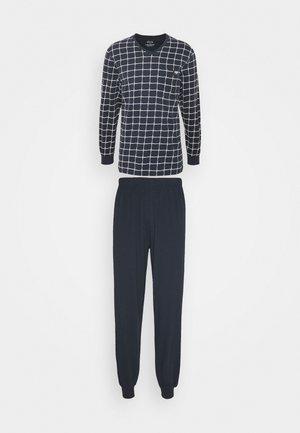 V-NECK SET - Pyjamas - blue dark