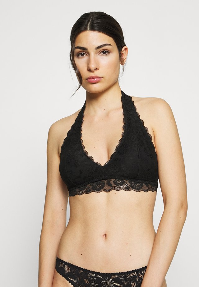 CORE HALTER - Triangle bra - black