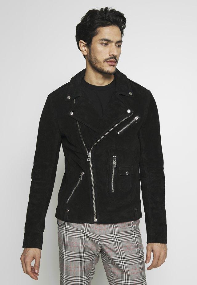 MAXIME BIKER - Leren jas - black