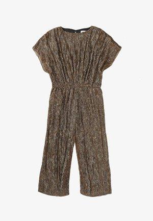 METALIC ELASTICED WAISTBAND - Shift dress - bronze
