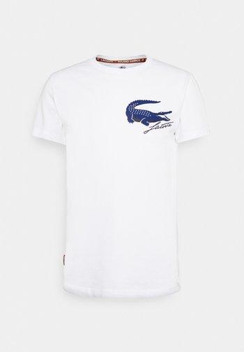 LOGO - Print T-shirt - white/navy blue