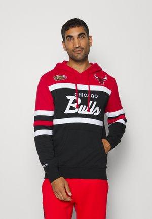 NBA CHICAGO BULLS HEAD - Hoodie - red/black