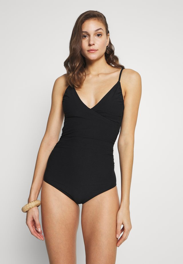 WRAP SWIMSUIT KLINTE - Uimapuku - black