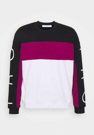 CALLY - Sweatshirt - black/pink