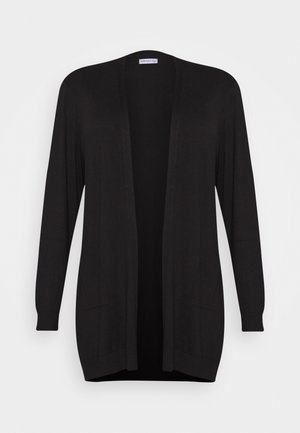BASIC OPEN POCKET  - Cardigan - black