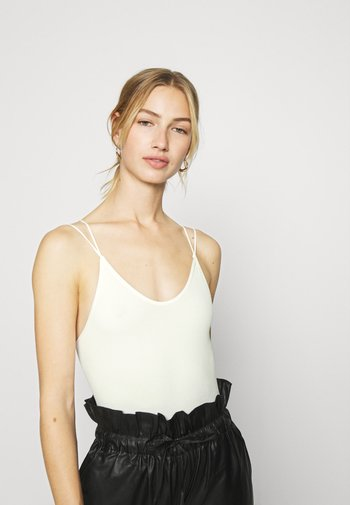 THONG STRAPPY BACK BODYSUIT - Top - white