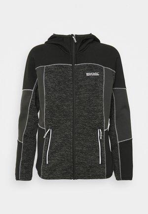 WALBURY II - Fleece jacket - black/ash