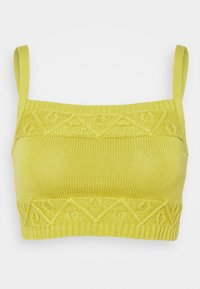 Glamorous - CARE CROPPED CAMI - Topper - olive green - 4