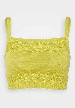 CARE CROPPED CAMI - Top - olive green