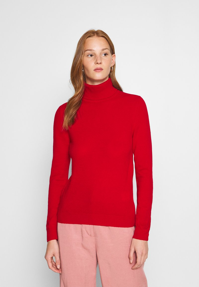 Benetton - TURTLE NECK - Pullover - red