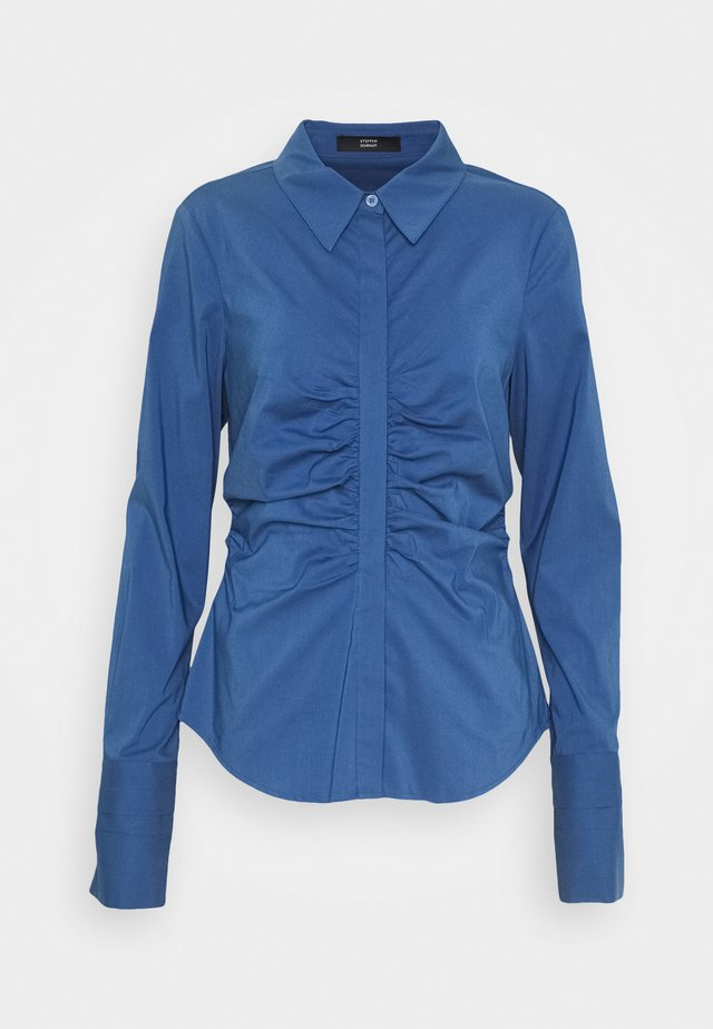 CLEMANDE PLEATED BLOUSE - Button-down blouse - smoky blue