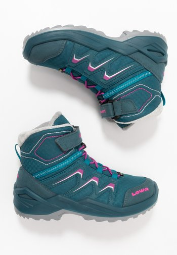 MADDOX WARM GTX - Winter boots - petrol/pink
