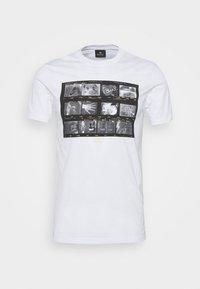 PS Paul Smith - MENS SLIM FIT NEGATIVES - Print T-shirt - white - 4