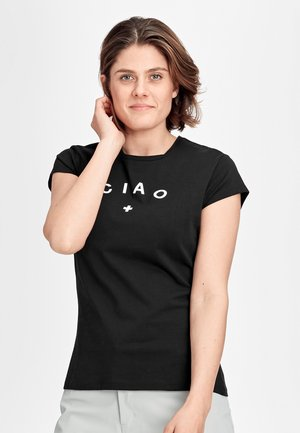 PEAKS - Print T-shirt - black prt ciao