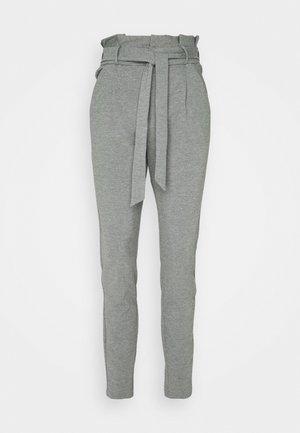 VMEVA PAPERBAG PANT - Bukse - medium grey melange